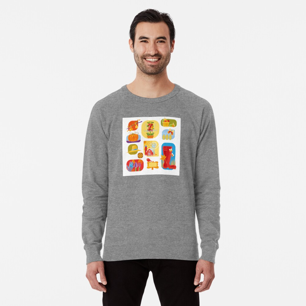 Autumn Farm  Lightweight Sweatshirt