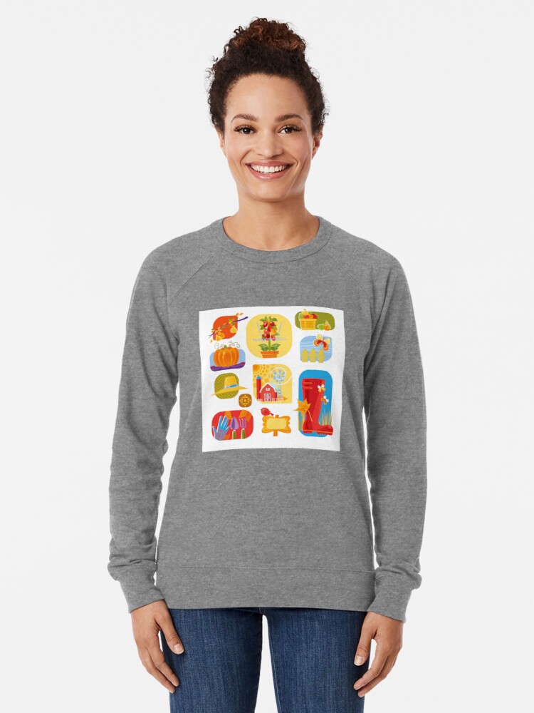 Alternate view of Autumn Farm  Lightweight Sweatshirt