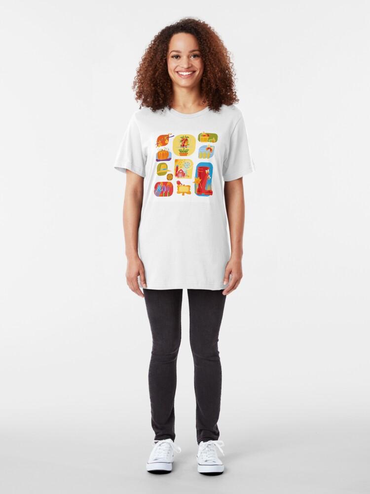 Alternate view of Autumn Farm  Slim Fit T-Shirt