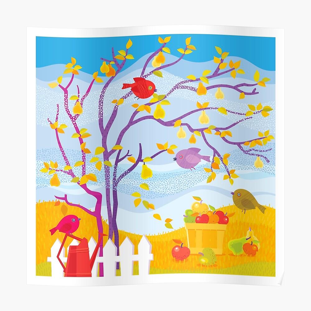 Autumn Farm Poster