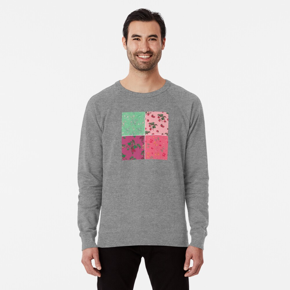 Decorative Berries Pattern Collection Lightweight Sweatshirt