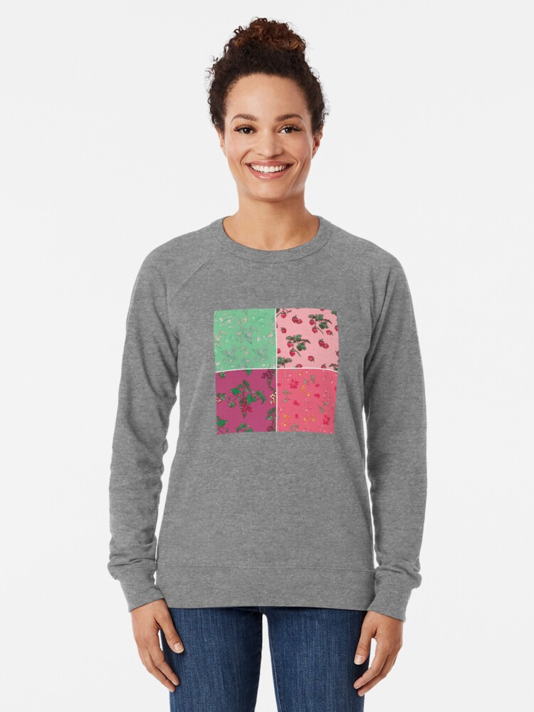 Alternate view of Decorative Berries Pattern Collection Lightweight Sweatshirt