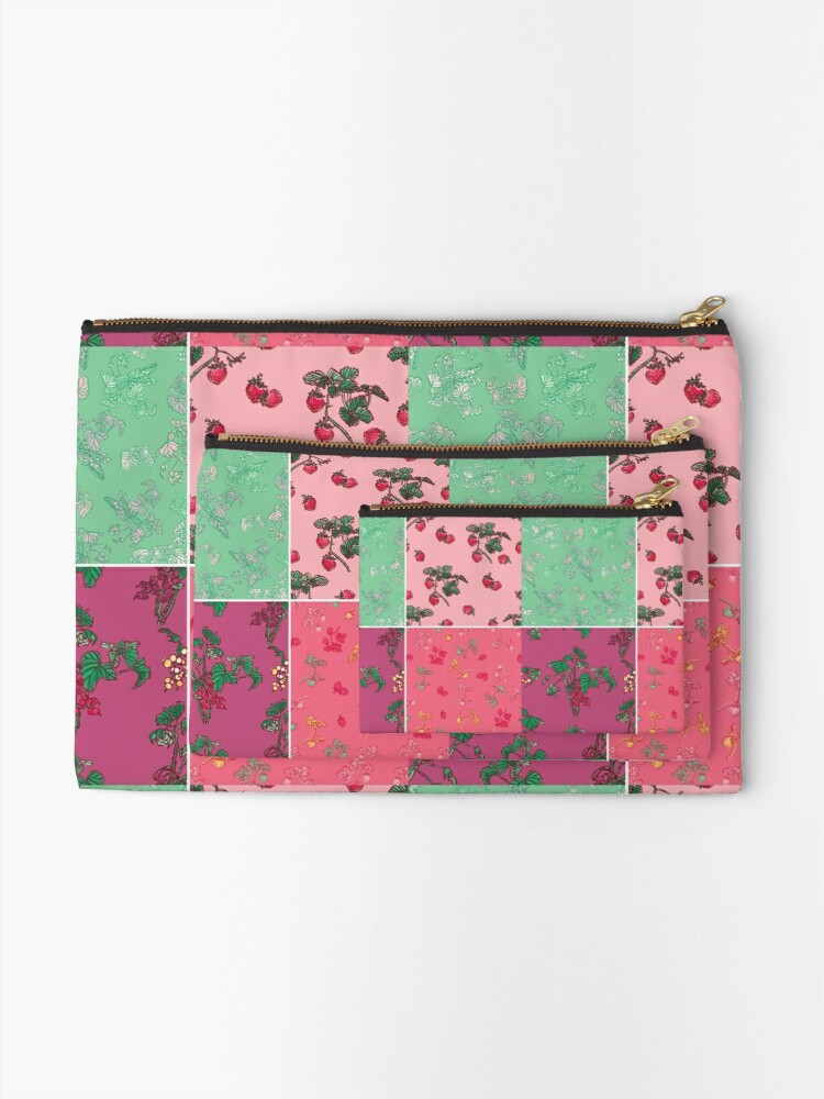 Alternate view of Decorative Berries Pattern Collection Zipper Pouch