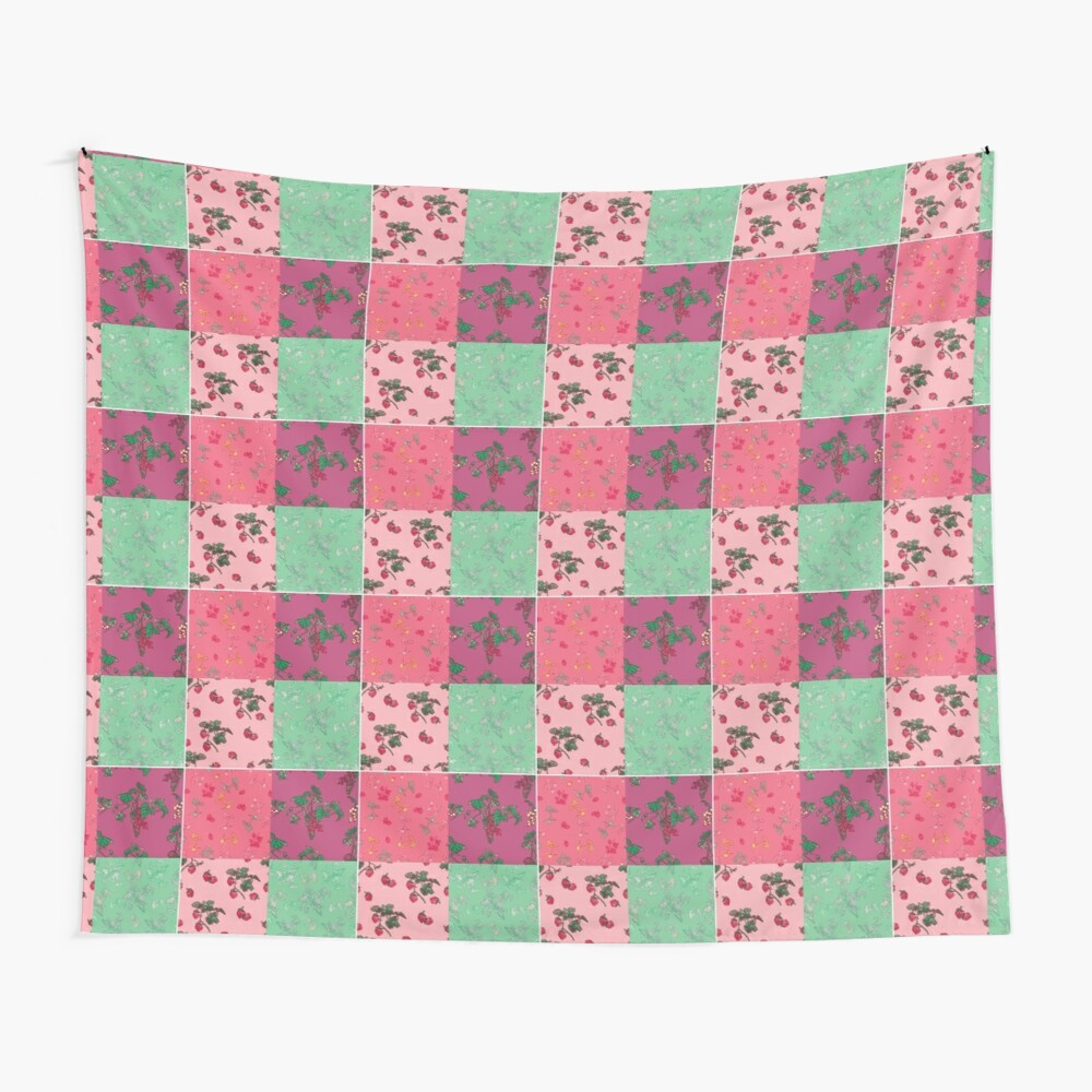 Decorative Berries Pattern Collection Wall Tapestry