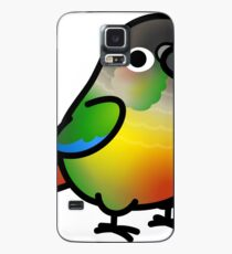 Chubby Green Cheek Conure Yellow-sided Case/Skin for Samsung Galaxy