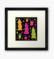 Playful colorful Xmas Framed Print