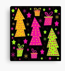 Playful colorful Xmas Canvas Print