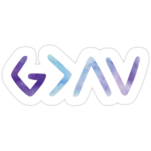 """""""God Is Greater than the Highs and Lows"""" Stickers by ..."""