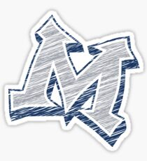 Miller M (Grey & Navy) Sticker