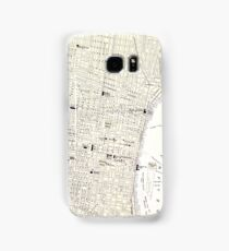 Vintage Map of Philadelphia (1885) Samsung Galaxy Case/Skin