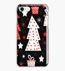 Red playful Xmas  iPhone Case/Skin