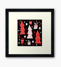 Red playful Xmas  Framed Print