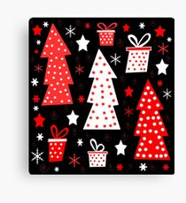 Red playful Xmas  Canvas Print