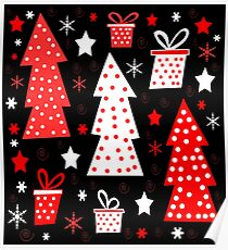 Red playful Xmas  Poster