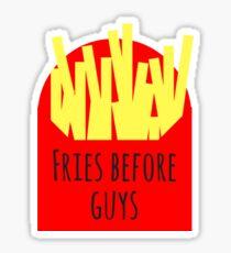Fries B4 Guys Sticker
