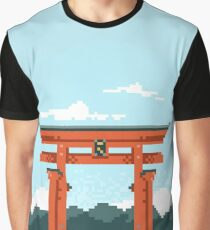Torii Gate Pixel Art Graphic T-Shirt