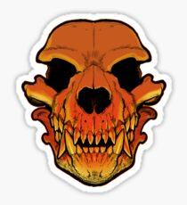 Werewolf skull Sticker