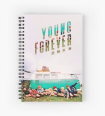 Colorful Young Forever BTS Edit Spiral Notebook