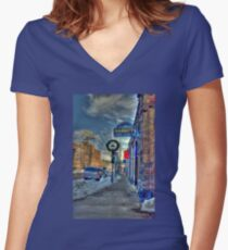 Holiday Time in Flagstaff Arizona Women's Fitted V-Neck T-Shirt