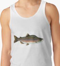 salmon artwork tank top