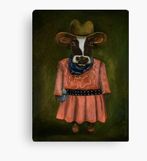 Real Cowgirl Canvas Print