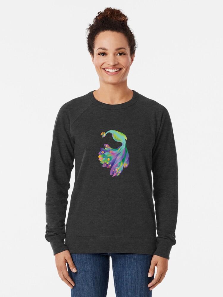 Alternate view of Peacock  Lightweight Sweatshirt