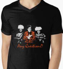 Any Questions? (David S. Pumpkin) Men's V-Neck T-Shirt