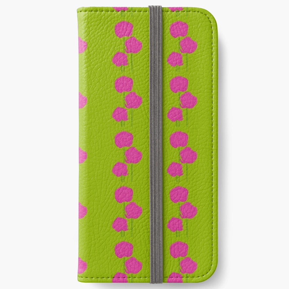 Pink Roses iPhone Wallet