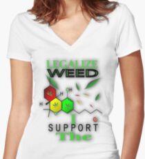 Speak up Women's Fitted V-Neck T-Shirt