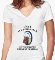 I Met Lil Sebastian Women's Fitted V-Neck T-Shirt