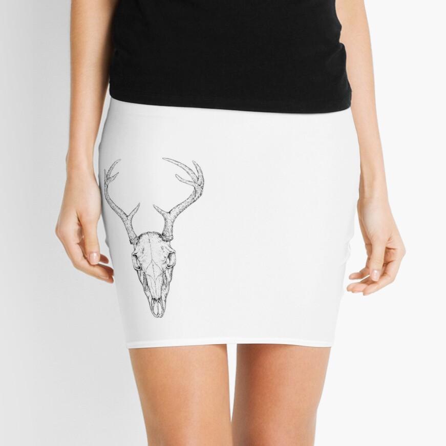 Deer Skull Mini Skirt