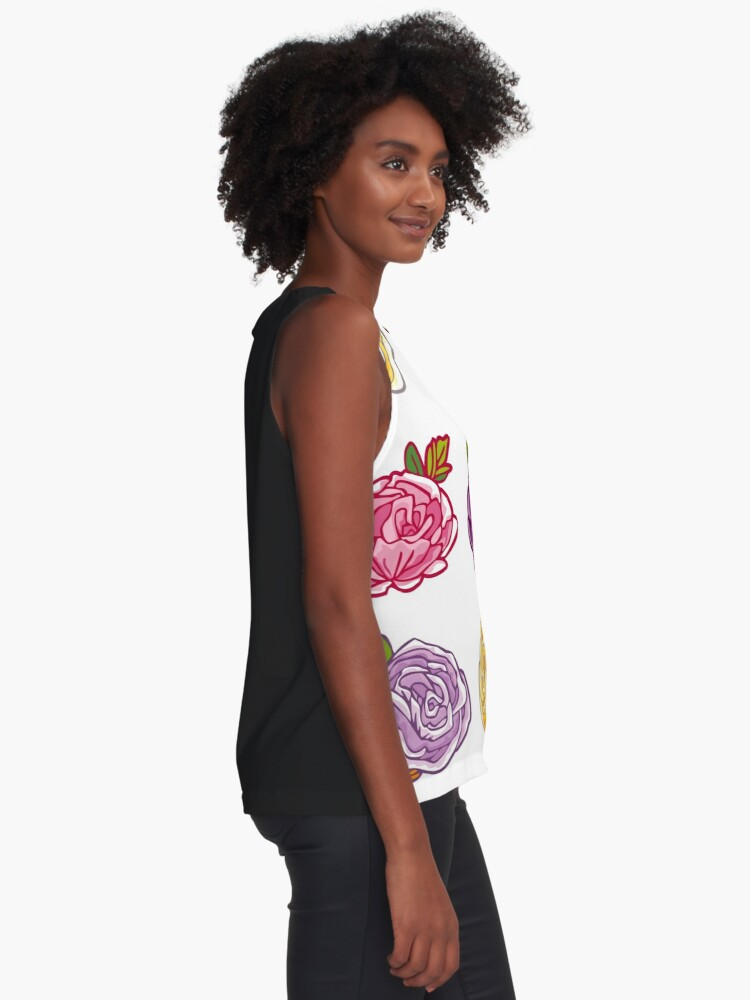 Alternate view of Decorative Roses Sleeveless Top