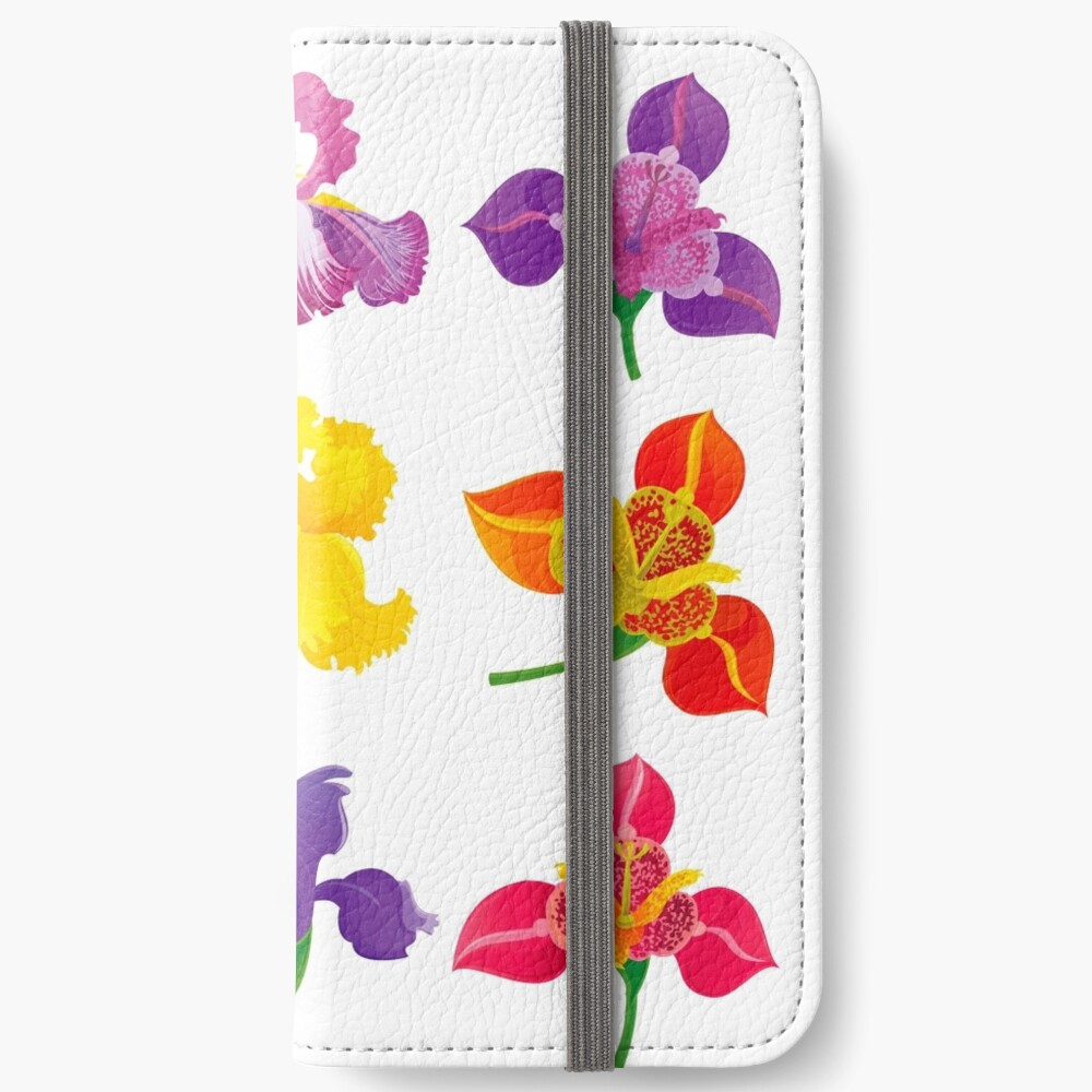 Tigridia & Iris iPhone Wallet