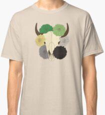 flowering aro pride cow skull Classic T-Shirt