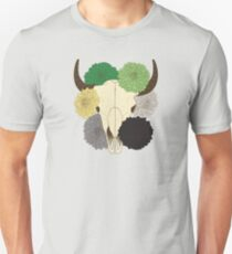flowering aro pride cow skull Unisex T-Shirt