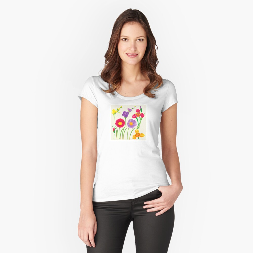 Spring Flowers Fitted Scoop T-Shirt