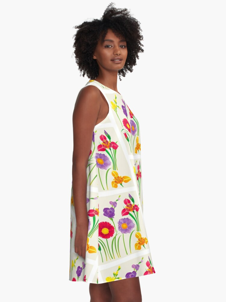 Alternate view of Spring Flowers A-Line Dress