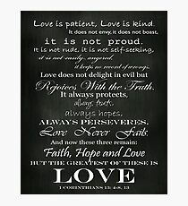 Love Is Patient Photographic Print
