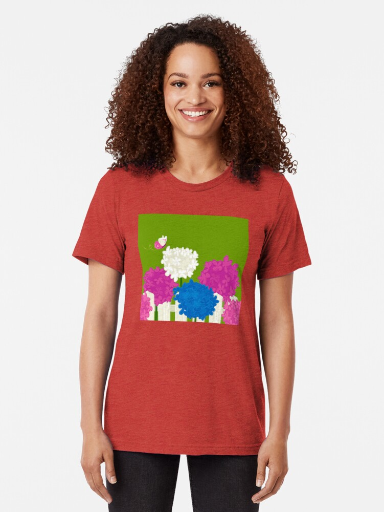 Alternate view of Flower Garden Tri-blend T-Shirt