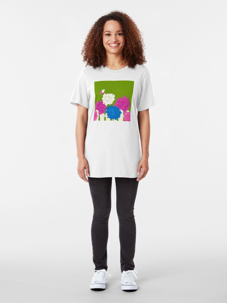 Alternate view of Flower Garden Slim Fit T-Shirt