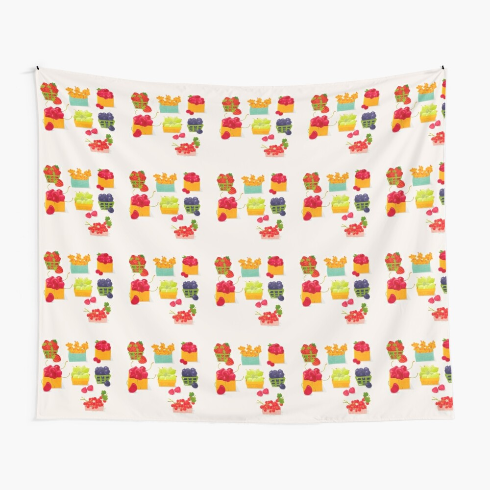 Sweet Berries Wall Tapestry