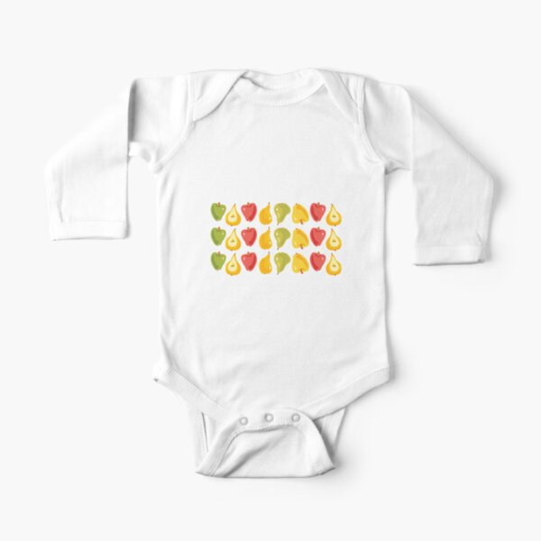 Apples & Pears Long Sleeve Baby One-Piece