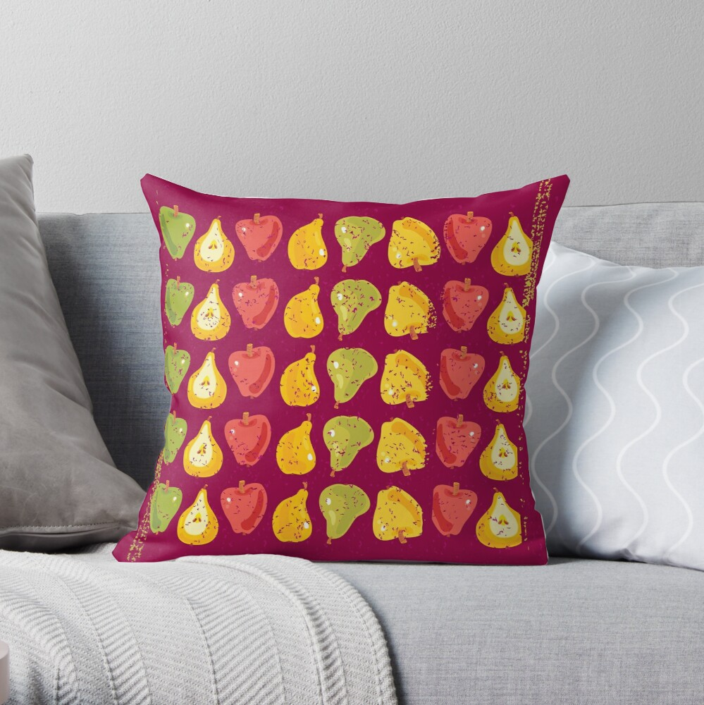 Apples & Pears Throw Pillow