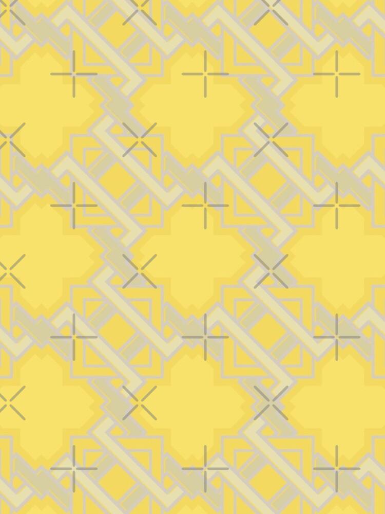Yellow Geometric Pattern by rusanovska