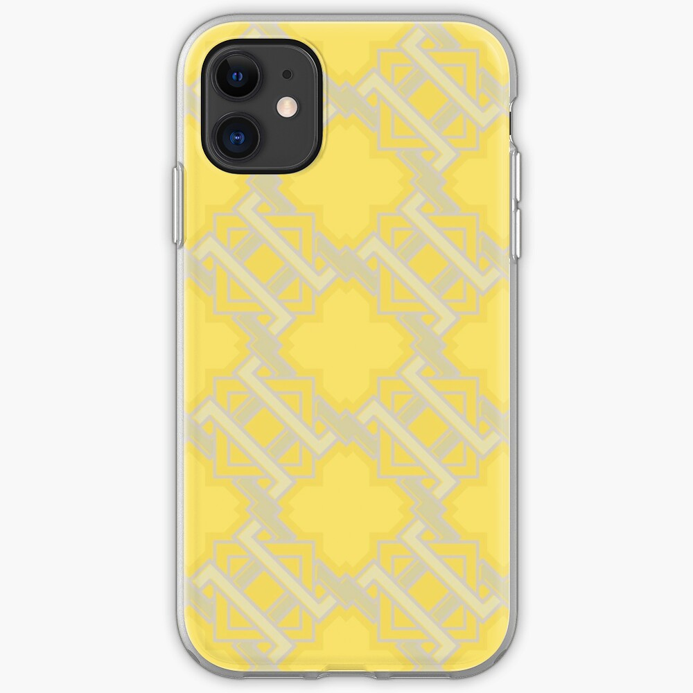 Yellow Geometric Pattern iPhone Case & Cover