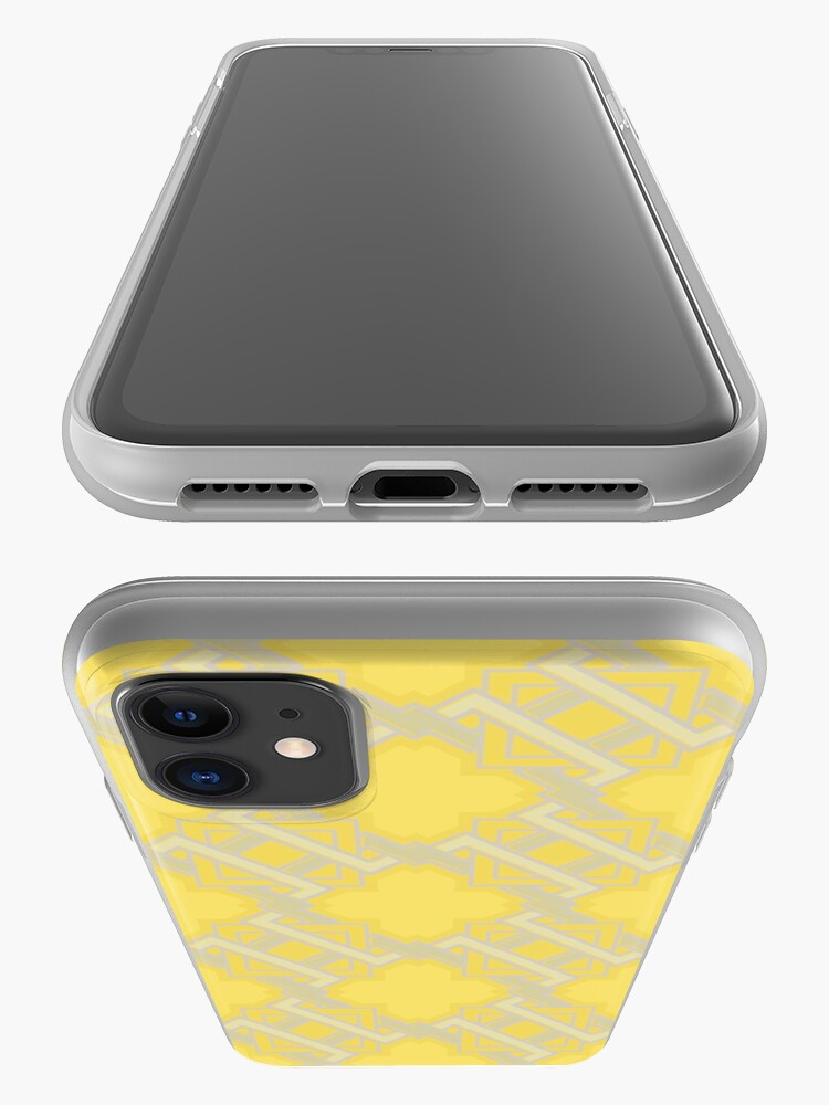 Alternate view of Yellow Geometric Pattern iPhone Case & Cover