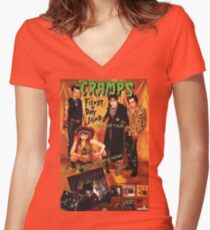 The Cramps  Women's Fitted V-Neck T-Shirt