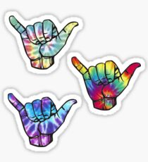 3 Tie Dye Shakas Sticker
