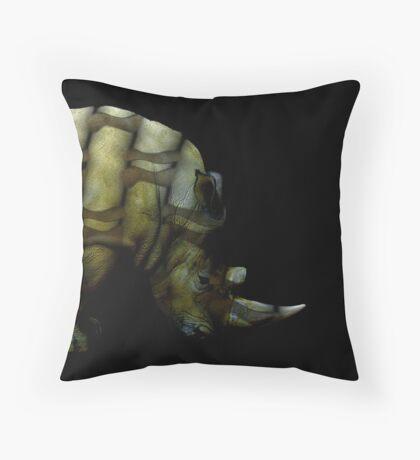 rhino muscles Throw Pillow