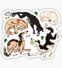 borzoi pattern Sticker
